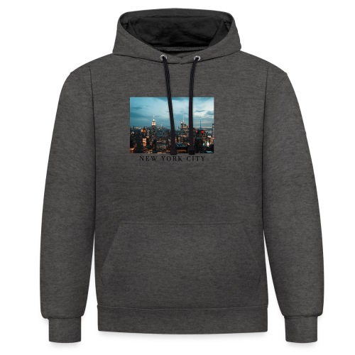 NEW YORK CITY, new york, new york photo, big city - Contrast Colour Hoodie