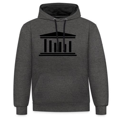 TST Logo Black - Contrast Colour Hoodie