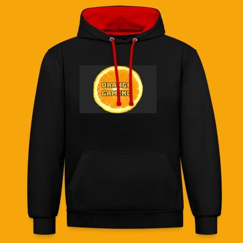 Orange_Logo_Black - Contrast Colour Hoodie