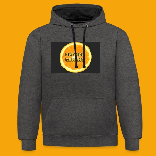 Orange_Logo_Black - Contrast Colour Hoodie