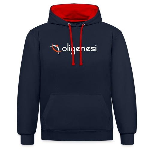 Oligenesi - Felpa con cappuccio bicromatica