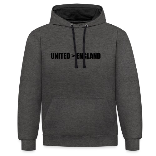 United > England - Contrast Colour Hoodie
