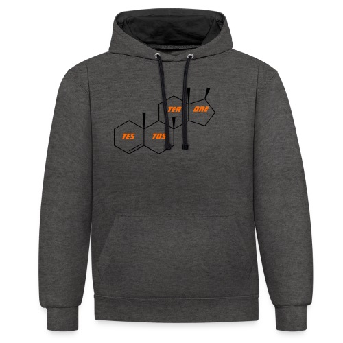 Testosterone T Shirt, Testosterone Hoodie, Gift, - Contrast Colour Hoodie
