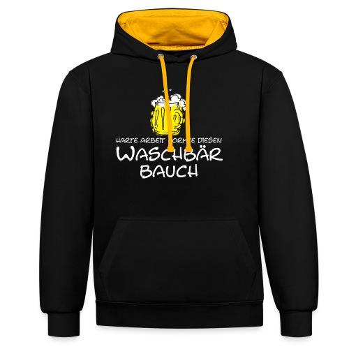 Waschbaerbauch - Kontrast-Hoodie