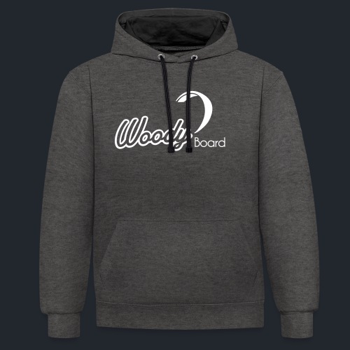 Logo Woodyboard Blanc - Sweat-shirt contraste