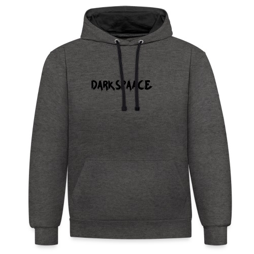 Habits & Accésoire - DarkSpaace Noir - Sweat-shirt contraste