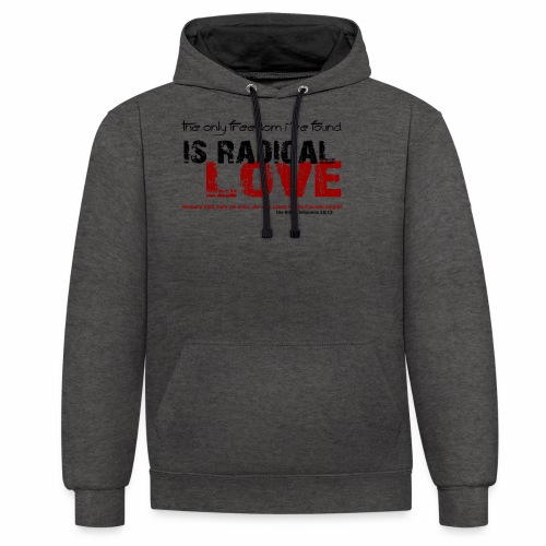 Radikale Liebe black - Kontrast-Hoodie