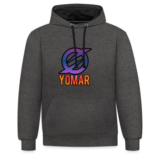 YOMAR - Contrast Colour Hoodie