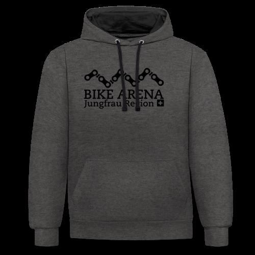 Bike Arena Black Rider - Kontrast-Hoodie