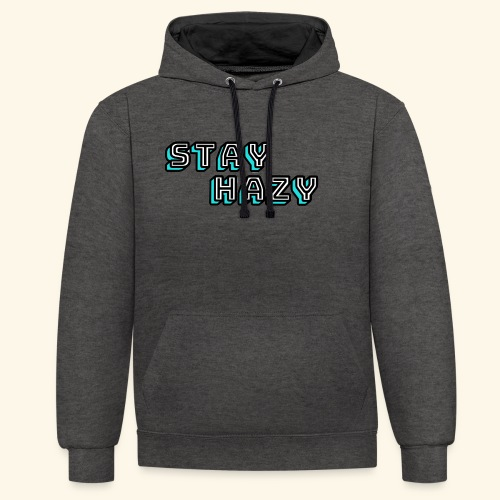 stay hazy - Contrast Colour Hoodie