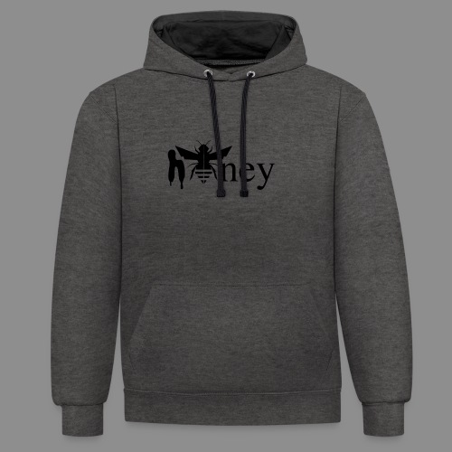 Honey - Contrast Colour Hoodie