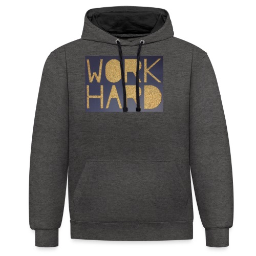 Thomas Schöggl ART WORK HARD - Kontrast-Hoodie