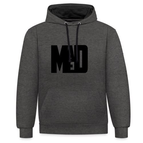 Maddem logo (Black) - Contrast Colour Hoodie