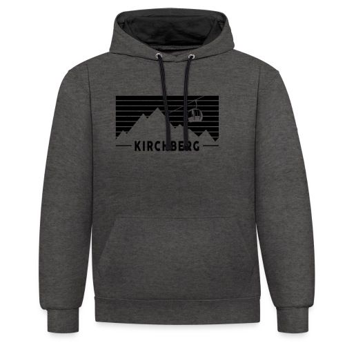 Mountains & Stripes Kirchberg - Contrast hoodie