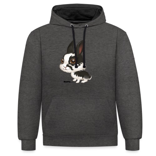 Konijn - Contrast hoodie