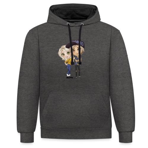 Emily & Lucas - Contrast hoodie