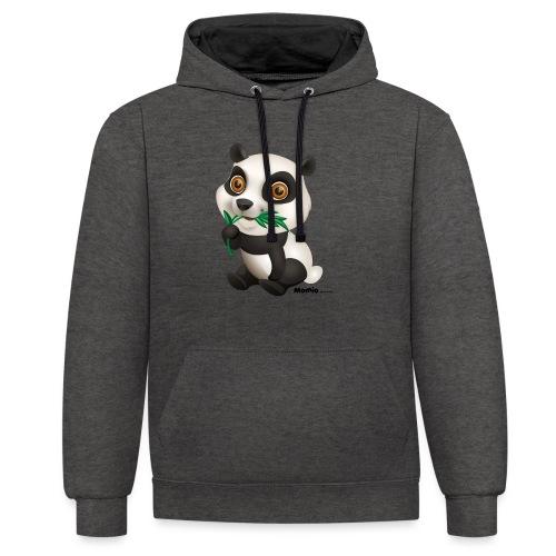 Panda - Kontrast-hettegenser