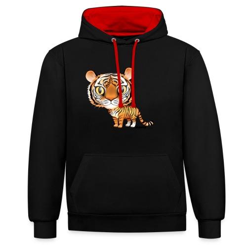 Tijger - Contrast hoodie