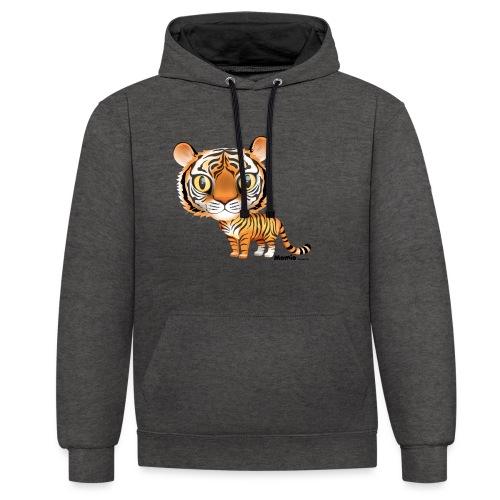 Tiger - Kontrast-hættetrøje