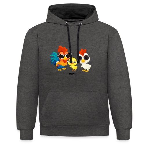 Kip - door Momio Designer Emeraldo. - Contrast hoodie