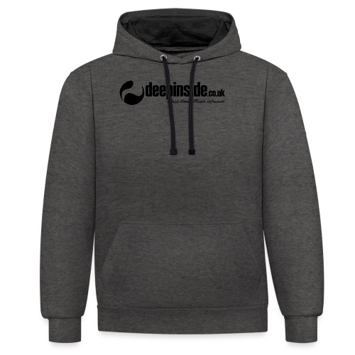 DEEPINSIDE World Reference logo black - Contrast Colour Hoodie