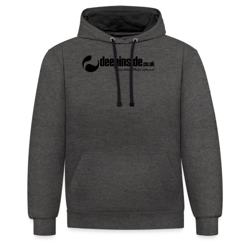 DEEPINSIDE World Reference logo black - Contrast Colour Hoodie