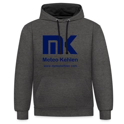 mk logo www. - Kontrast-Hoodie