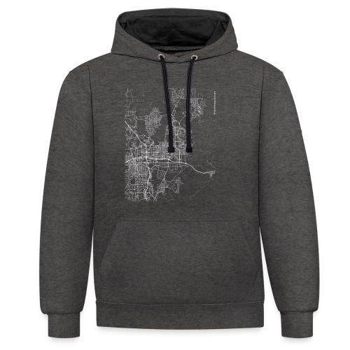 Minimal Sparks city map and streets - Contrast Colour Hoodie