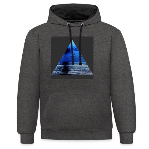 OceanBlue - Contrast Colour Hoodie