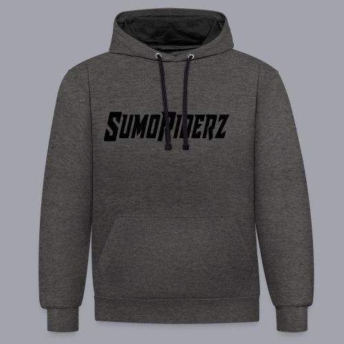 Schrift SumoRiderz - Kontrast-Hoodie