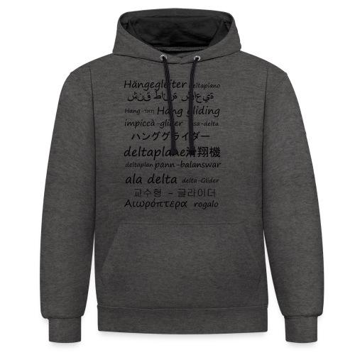 deltaplane en plusieurs langues - Sweat-shirt contraste