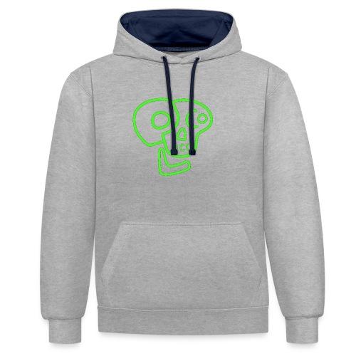 poco loco logo green - Contrast Colour Hoodie
