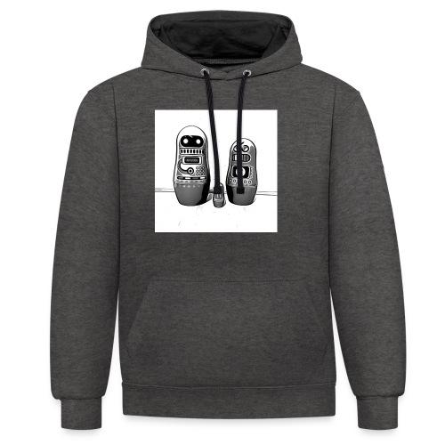 0342 Shirt ROBOT Bot IIII - Kontrast-Hoodie