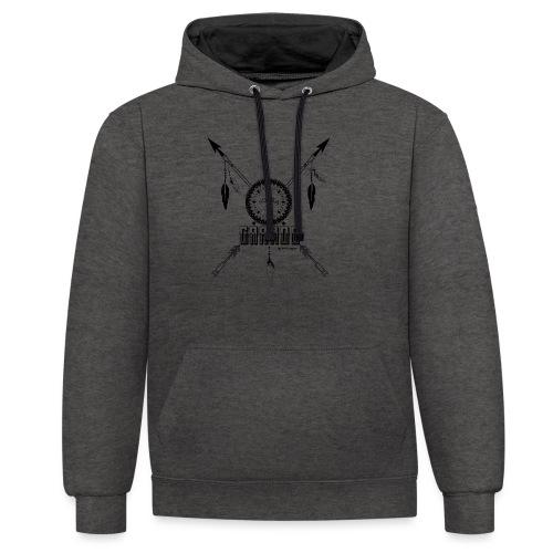 SUEN A EN GRANDE negro - Sudadera con capucha en contraste