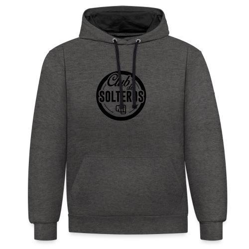 Club de Solteros (logo negro) - Sudadera con capucha en contraste