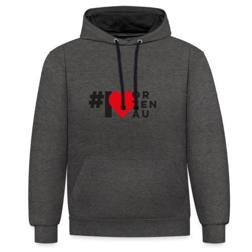 # I LOVE ORTENAU - Kontrast-Hoodie