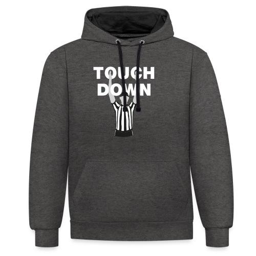 Touchdown - Kontrast-Hoodie