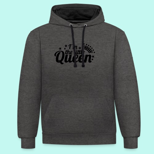 I'm the little Queen - Kontrast-Hoodie
