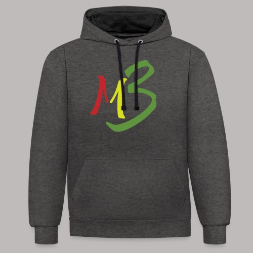 MB13 Logo rasta1 - Contrast Colour Hoodie