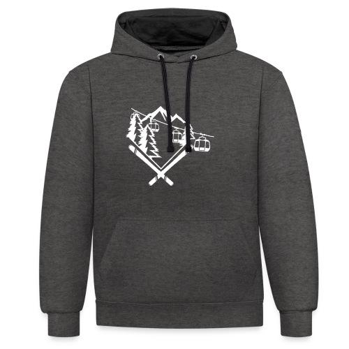 Mountain Gondola - Contrast hoodie