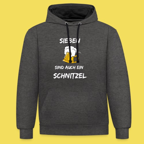 Sieben Bier - weiß - Kontrast-Hoodie
