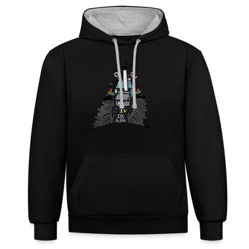0367 Groene trekker DX606 - Contrast hoodie