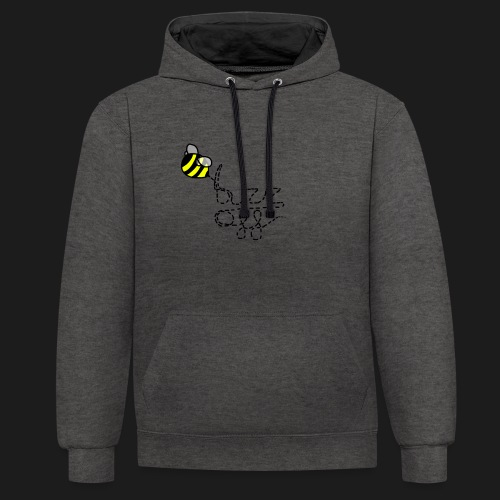 buzz off - Contrast Colour Hoodie