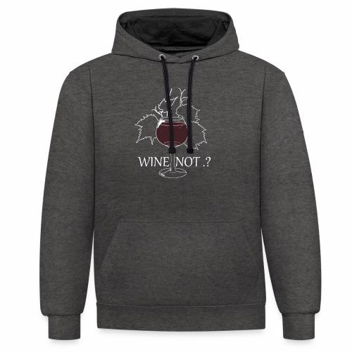 wine - Sweat-shirt contraste