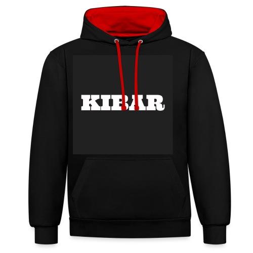 KIBAR - Kontrast-hættetrøje