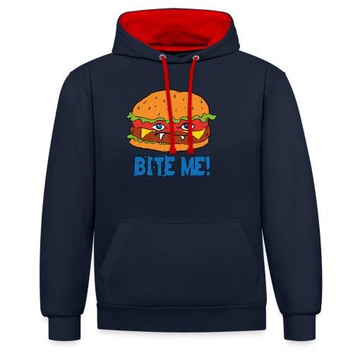 Bite me! - Felpa con cappuccio bicromatica