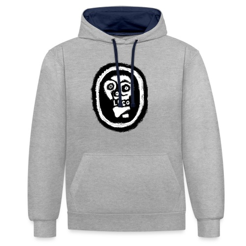 Poco Loco..its got a ring to it - Contrast Colour Hoodie