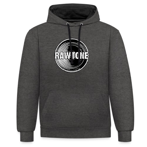 Rawtone Records logo - Contrast Colour Hoodie