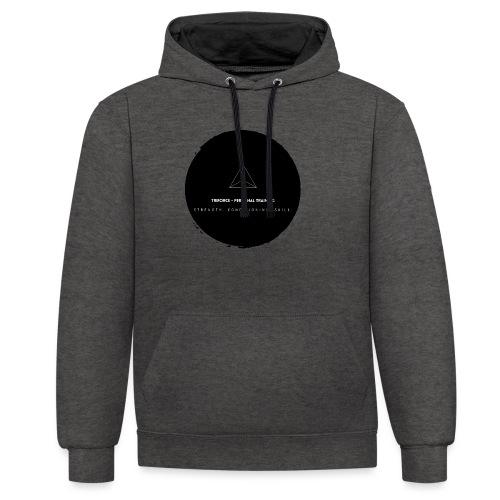 Triforce blend (black) - Kontrast-Hoodie