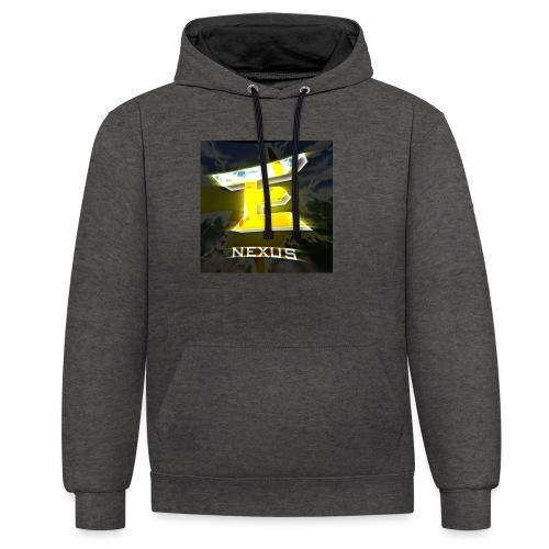 logo nexus - Kontrast-Hoodie